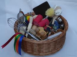 Babies and small children love treasure baskets.
