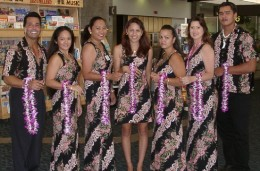Traditional Lei Greeters