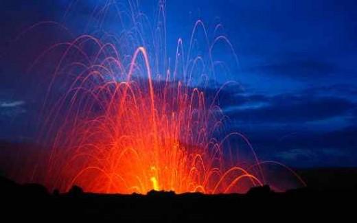 Volcanic activity, Tanna Vanuatu