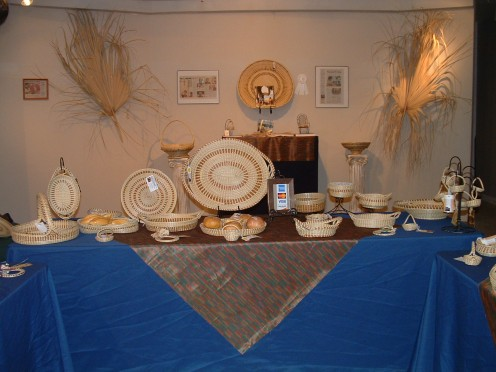 Baskets on display and for sale at the Hilton Head Island-Bluffton Chamber of Commerce's Welcome Center on the north end of Hilton Head Island.