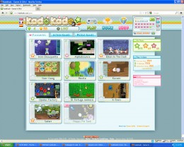 This is the play minigames screen, with the Favorites Tab selected.