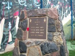 War memorial at Scarborough Rifle Company mural