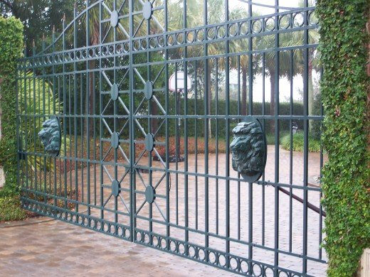 Gated entrance to House