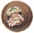 May Gibbs; artist: images of Snugglepot, Cuddlepie, Little Lobelia, Ragged Blossom eucalyptus gumnut babies