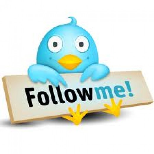 Follow me on Twitter by clicking the link above.