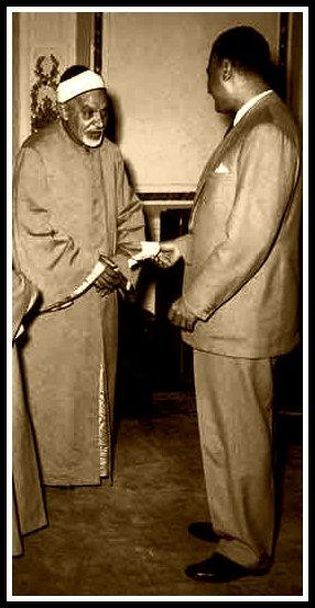 Sheikh Abdel Fattah She'shaie with President Nasser