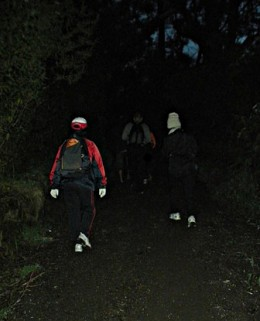 We started our hike in the dark.