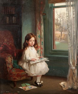 Portrait of Clara Hughes, 1902 (Child reading)