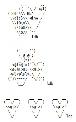 My own ASCII art created for Valentine's Day.