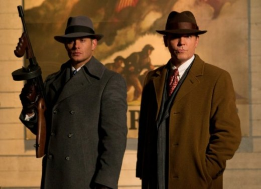 Jensen Ackles as Dean Winchester and Nicholas Lea as Eliot Ness