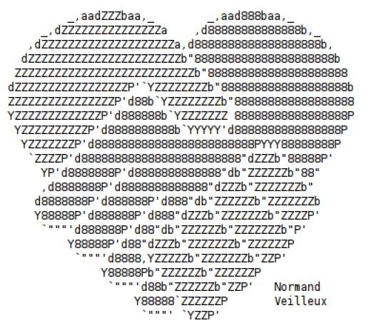 Valentine ascii text art hearts for Ascii text decoration