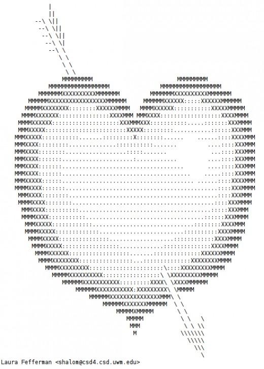 Valentine Ascii Text Art Hearts Hubpages
