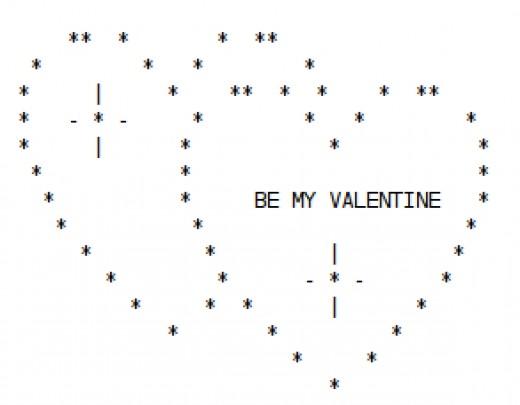 One Line Ascii Art Hearts : Valentine ascii text art hearts hubpages