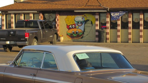 Weird burger stand in Utah, maybe New Mexico.  I can't really remember.