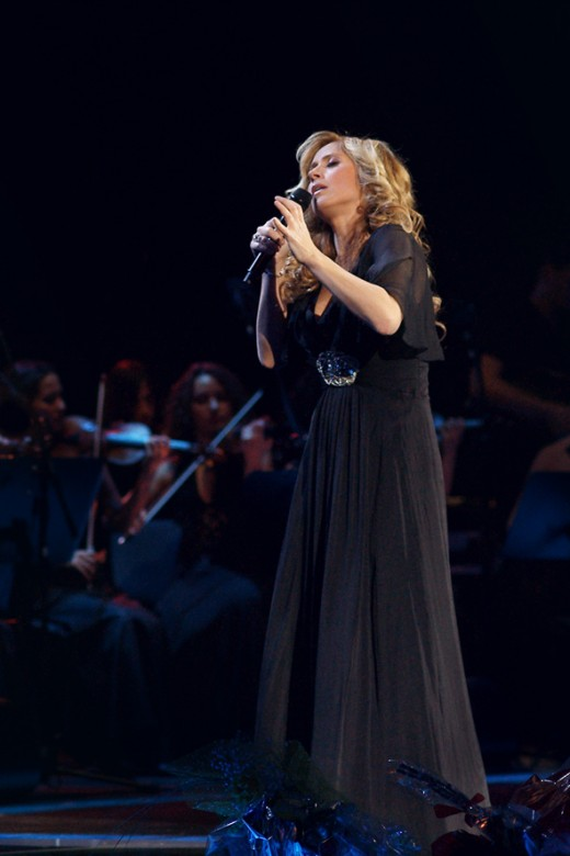Lara Fabian and Igor Krutoy (not included in the picture) presenting Mademoiselle Zhivago in November 6th 2010, as part of a sold-out 4-night stint in the Kremlin Palace, Moscow.