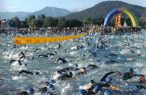 The Ironman swim- cold water places thermoregulatory demands on the body to maintain homeostasis