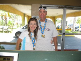 My hubby and I after the Orange County Marathon, May 2011. It was our 4th marathon together.