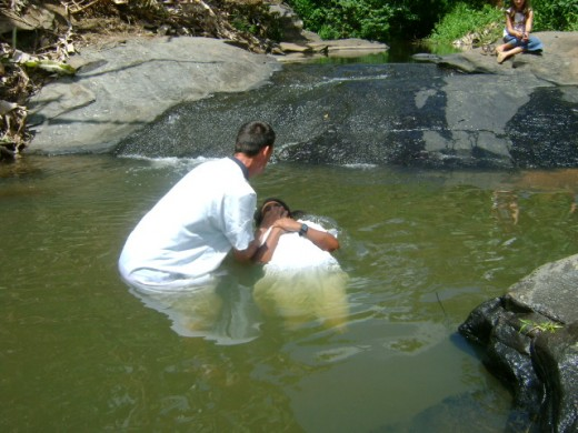 Scriptural full Immersion Baptism