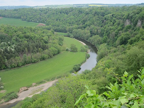 The winding river Wye