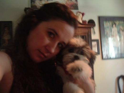 Victoria Lynn and Gizmo