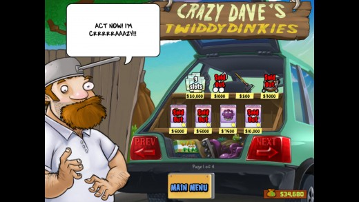 Crazy Dave's shop, back of his car.