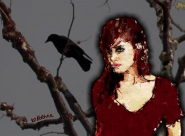 The Morrigan who often took the form of a wolf, crow, eel and cow.
