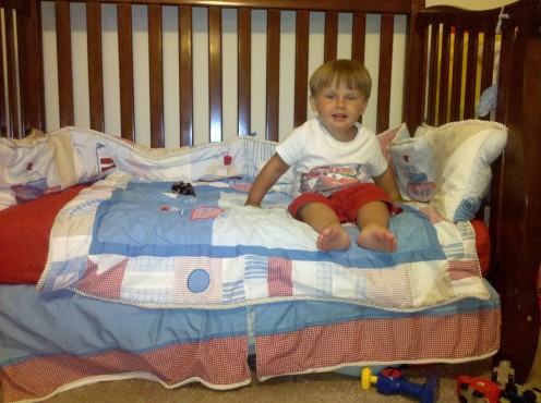 If your child can crawl out of their crib, it is time for a toddler bed!