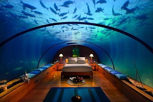Undersea Hilton Hotel and Spa - Maldives, Indian Ocean