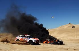 Car in flames!
