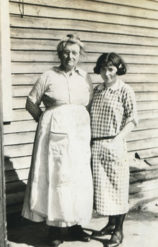 Maggie with her mother, Katharine