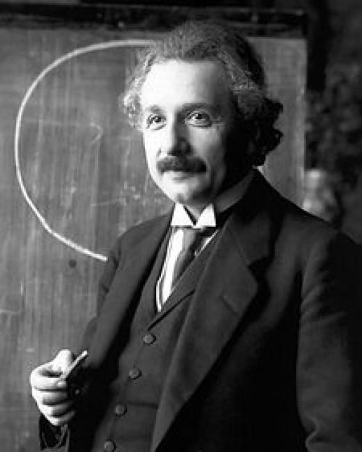 Einstein in 1921.