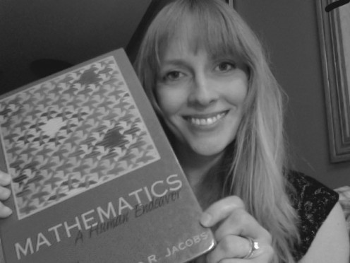 "When the title of your book is ""Mathematics,"" you know you aren't good at math.  I'm an English major; give me a break!"