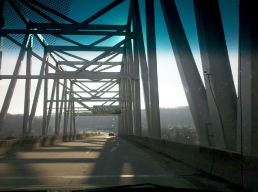 Bridge between East Liverpool, Ohio and Chester, West Virginia