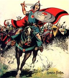 """Some history, lots of great drawings and stories! Edward, the Duke of Windsor, called Prince Valiant the """"greatest contribution to English literature in the past hundred years."""""""