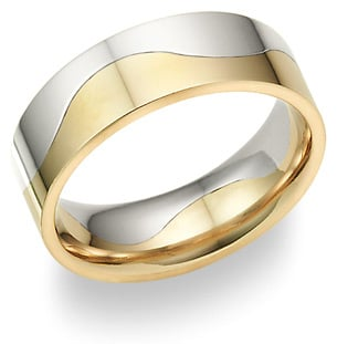 Two-tone - Stylish wedding bands