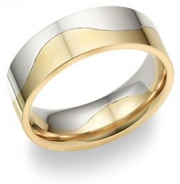 Two-tone - Stylish wedding bands