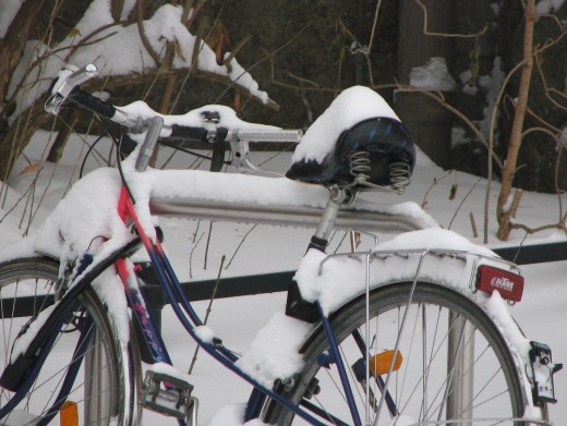 Cycling in winter is not everyone's cup of tea!