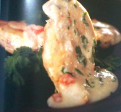 Pan Fried Chicken with Cilantro Recipe.