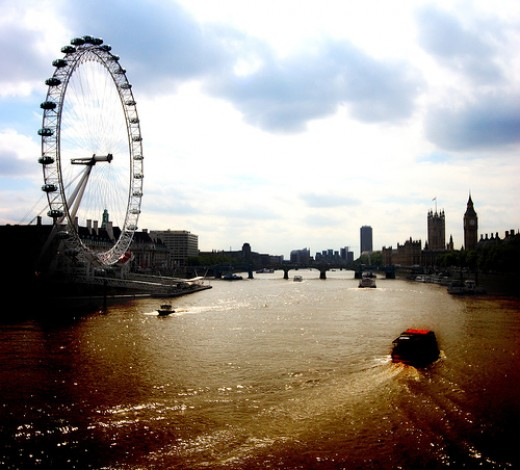 The Thames and London Eye