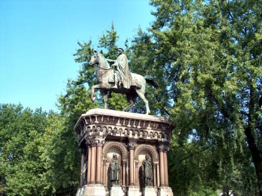 Statue of Charlemagne, Boulevard d'Avroy, Liège, Belgium