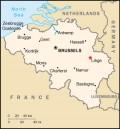 MAP LOCATION OF LIEGE, BELGIUM