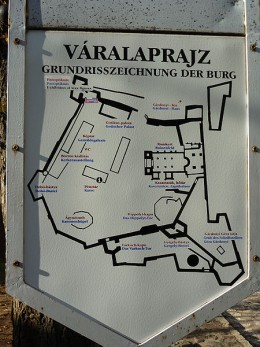 Eger Castle map