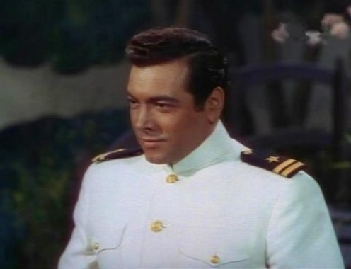 As Lt. Pinkerton in Madama Butterfly in the film The Toast of New  Orleans