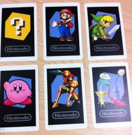 The AR cards which come with the 3DS.