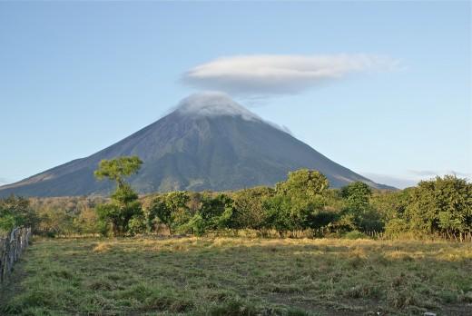 Concepción Volcano in its conical glory.