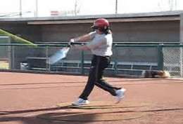 Hands staying PALM UP/PALM DOWN pushing through hitting zone.