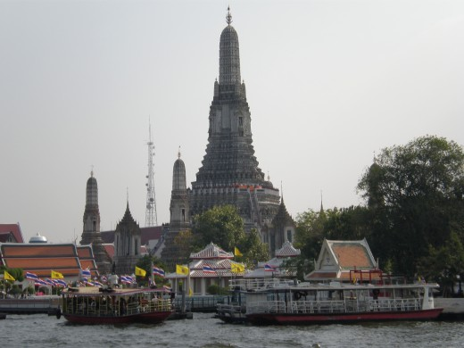 Buddhist Temple of Wat Arun in Bangkok, Thailand.