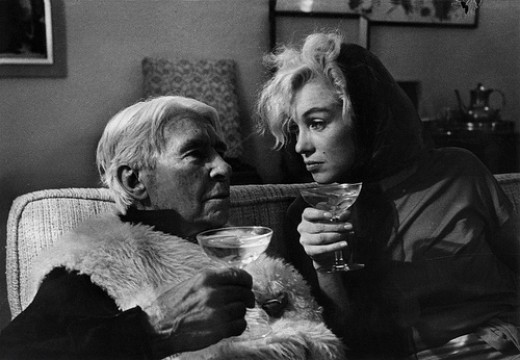 Marilyn Monroe and Carl Sandburg, Beverly Hills, 1962  Photo credit: Arnold Newman.