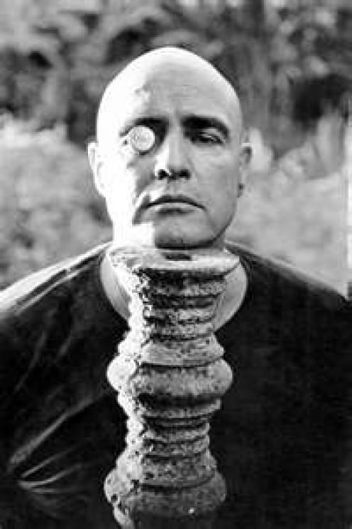 Marlon Brando plays Colonel Kurtz