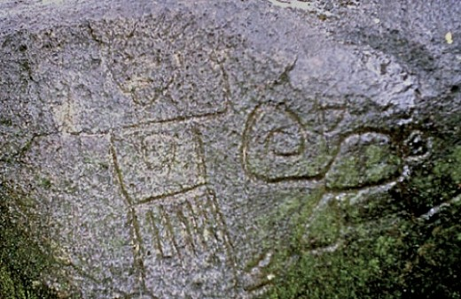 A petroglyph found in the Maderas Volcano area during the 1995-1999 volunteer survey.